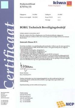 BORG certificaat
